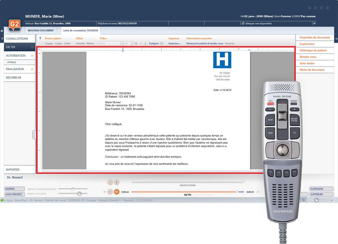 SpeechReport | Reconnaissance vocale | Flux de travail
